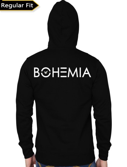 bohemia black hoodie back
