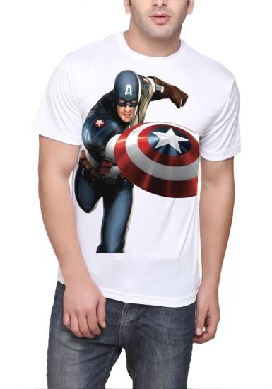 captain america white tshirt