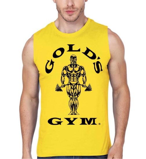gold gym yellow vest