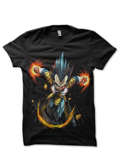 vegeta black t-shirt