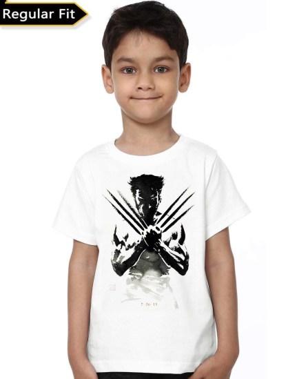 wolverine kids white tshirt