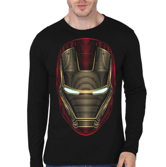 iron man black full sleeve t-shirt