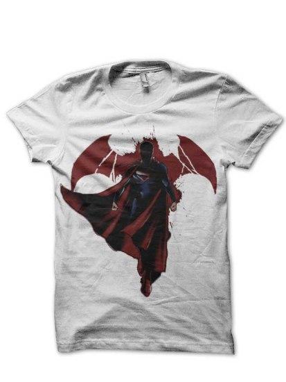 Justice superman white tshirt