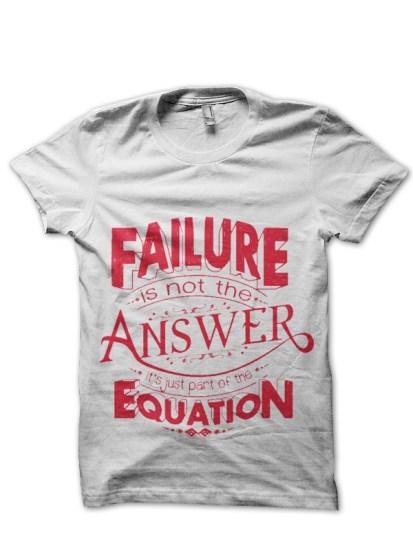 faliure white tshirt