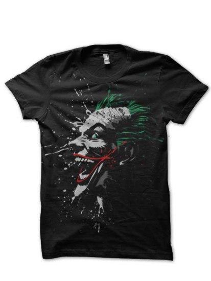 joker black tshirt