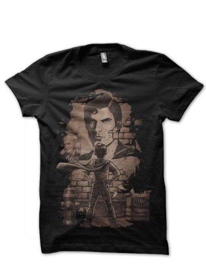 superman black tshirt