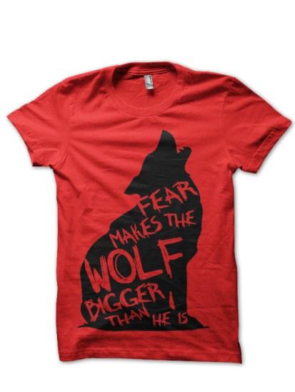 wolf red tshirt
