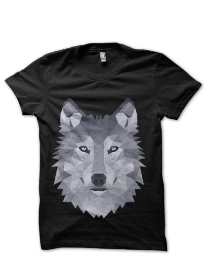wolf1 black tshirt