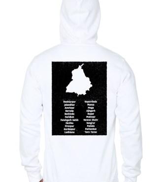 Sons Of Punjab Hun Dus White Hoodie | Swag Shirts