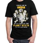 I Might Live In India But I'll Always Be From Planet Vegeta Yes I Am Super Saiyan T-Shirt