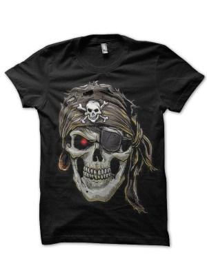 biker pirate black tshirt