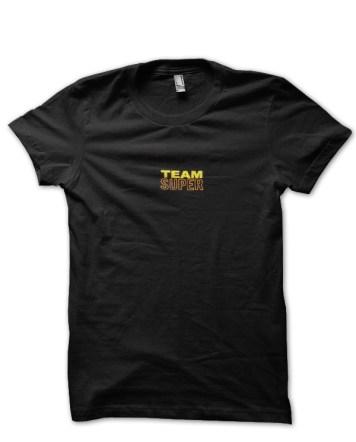 team super black tshirt