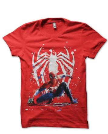 spiderman red tshirt