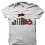 Share Market Bull Vs Bear White T-Shirt