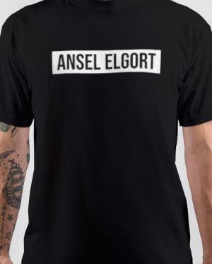 Ansel Elgort Black Tshirt