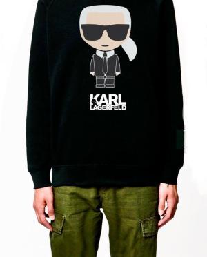 Karl Lagerfeld Black Hoodie