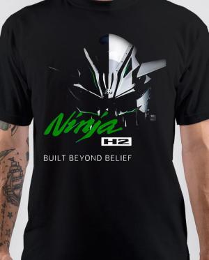 Kawasaki Ninja H2 Black T-Shirt