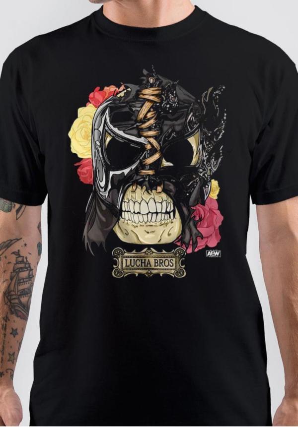 Lucha Brothers Black T-Shirt