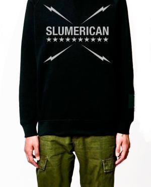 Slumerican Black Hoodie