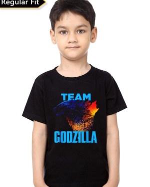 Team Godzilla Black Kids T-Shirt