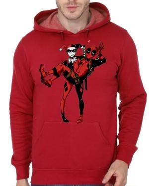 Harley Quinn And Deadpool Hoodie