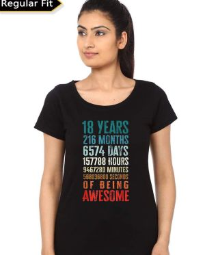 18 Years Of Beign Awesome Birthday T-Shirt