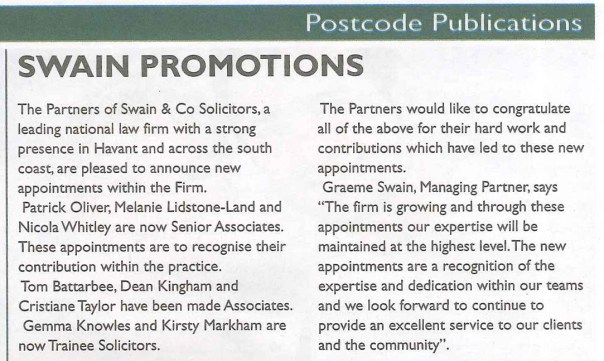 New appointments within the firm
