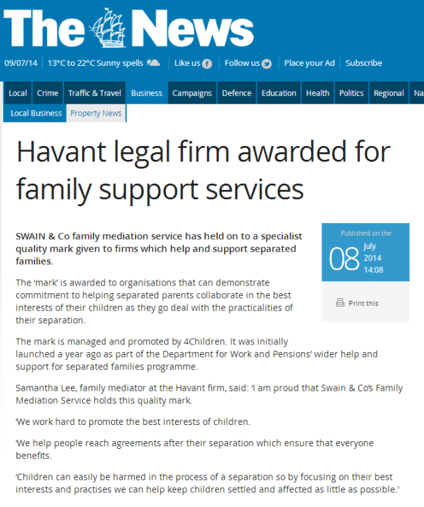 Family law press release