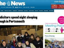 Swain & Co Solicitors are joined by The News who report on the sleepout event