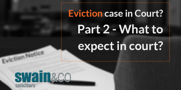 Eviction case in Court? Part 2- What to expect in court