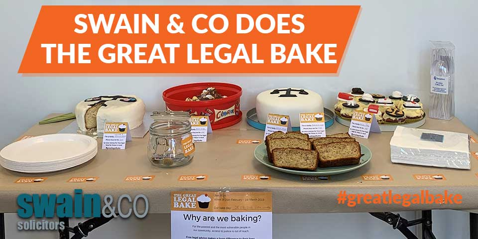 Swain & Co does the Great Legal Bake
