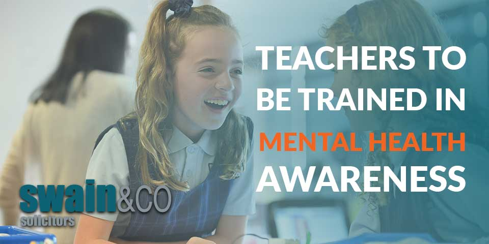Teachers to be trained in mental health awareness