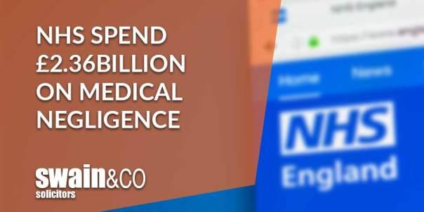 NHS spend £2.36billion on medical negligence | Clinical Negligence Lawyers & Solicitors | Swain & Co Solicitors