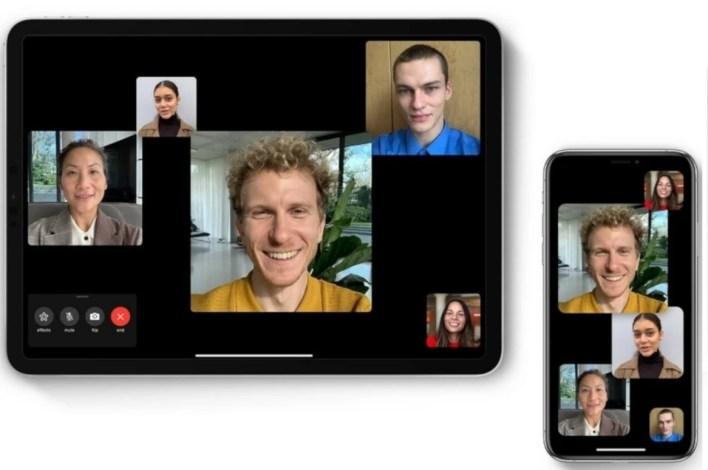 أبل تعمل على تحسين مكالمات الفيس تايم في اي او اس 14.2