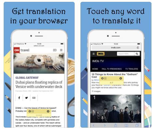 تطبيق Touch & Translate لمتصفح سفاري متاح مجاناً لفترة محدودة بدلاً من 2 دولار 1