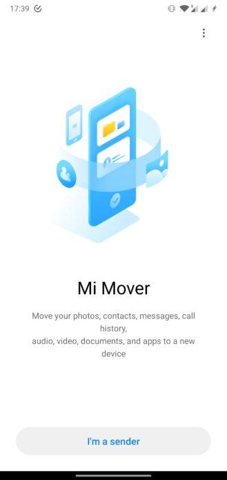 تطبيق Mi Mover متاح على جوجل بلاي الان لنقل بياناتك الى هواتف شاومي 1