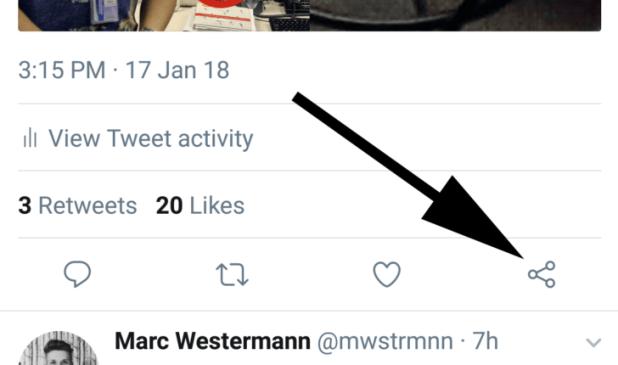 تويتر تختبر أيقونة جديدة للمشاركة