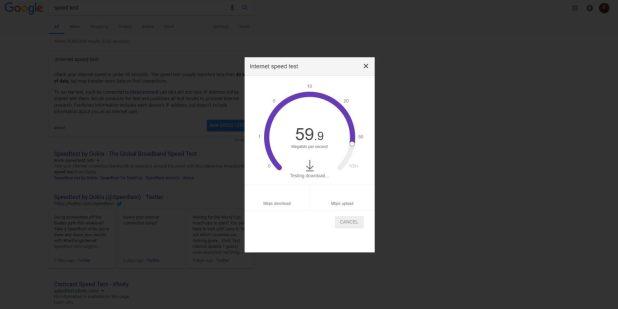 جوجل تختبر قياس سرعة الانترنت لديك مباشرة من صفحة البحث