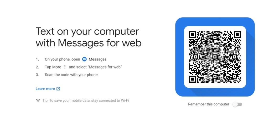 جوجل تطلق نسخة من تطبيق الرسائل (Messages) على الويب 1