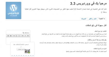أضواء على نسخة الوردبريس الجديدة 3.3 17