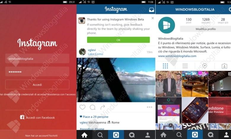 فيديو يكشف عن قرب صدور تطبيق انستجرام الرسمي لهواتف الويندوز 10 7