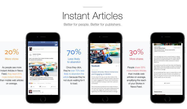 المقالات الفورية متاحه الان لكل الناشرين على الفيس بوك 2