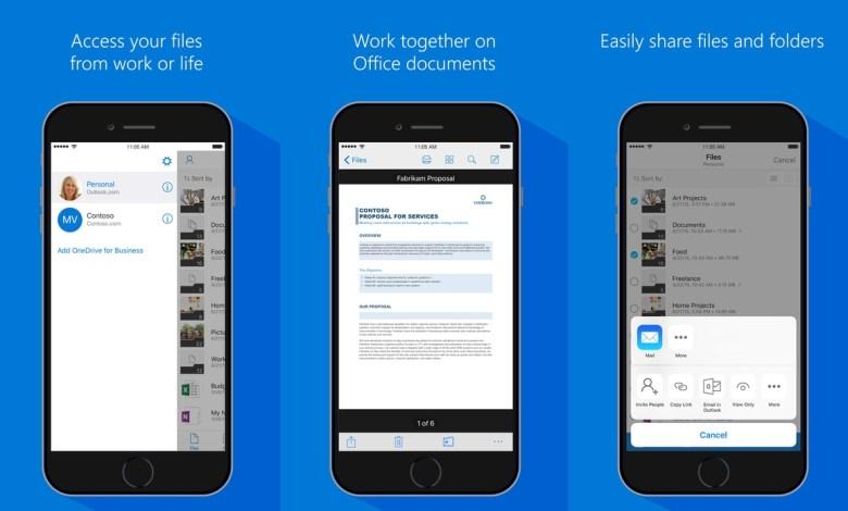 تطبيق OneDrive للايفون والايباد يدعم الان ملفات الصور المتحركة GIF 5
