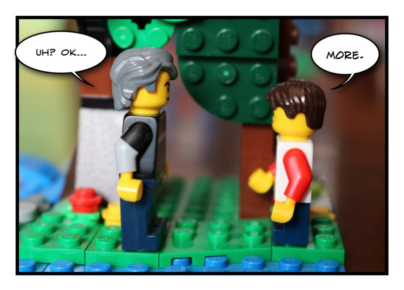 Father and Son - Lego - Social Distancing - 3