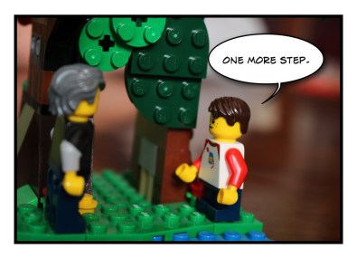 Father and Son - Lego - Social Distancing - 6