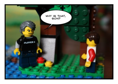 Father and Son - Lego - Social Distancing - 8