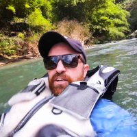 Floating down a local river for pure fun