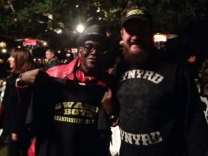 Met Randy Jackson. He said he liked my shirt so I gave it to him.