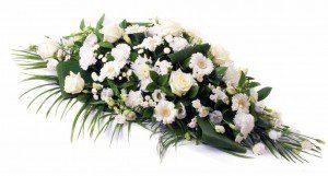 White Funeral Flowers - Swanborough Funerals