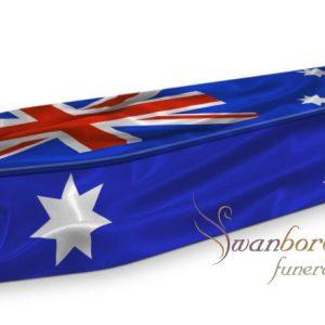 Australian Flag Coffin